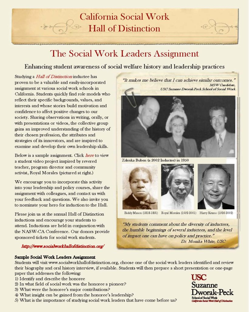 Picture of Social Work Leaders Assignment